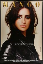 "HUGE Original RARE PENELOPE CRUZ MANGO CLOTHING Dutch Bus Shelter Poster 47""X70"""