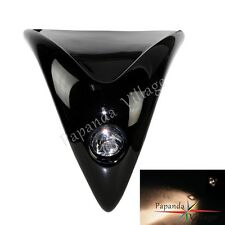 Black Naked Street Fighter Front Upper Universal Fairing Headlight Motorcycle