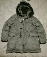 RAG & BONE NWT $1695 Arctic Parka Fur Wool & Goose Down Coat L Large Jacket