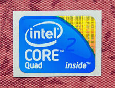 Intel Core 2 Quad Inside Sticker 18.5 x 24mm 2009 Version Logo USA Seller