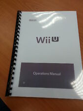 NINTENDO WII U FULL PRINTED USER MANUAL GUIDE INSTRUCTIONS 35 PAGES A5