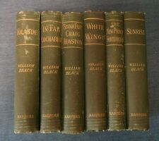 1890's Lot of 6 Books by William Black, Harper & Brothers SUNRISE, WHITE WINGS
