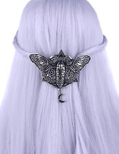 Restyle Occult Moth Silver Hair Clip Gothic Victorian Witchy Hair Accessory