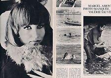 Coupure de presse Clipping 1966 Marcel Amont & Valérie  (2 pages)