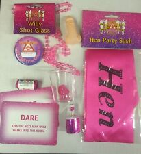 HEN NIGHT PARTY GIFT BAGS,FILLED WITH 8 ITEMS, Great Value