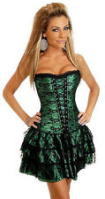 S - XXL SEXY Women Corset Mini Skirt Fancy Dress Costume Partywear Club Bustier