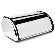 CHROME STAINLESS AMERICAN STYLE METAL BREAD LOAF STORAGE TIN CONTAINER