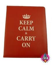 VINTAGE RETRO KEEP CALM & CARRY ON RED IPAD TABLET CASE NEW