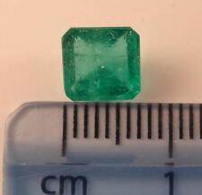 """*** qualità NATURALE DELLO ZAMBIA LOOSE 1.63 ct smeraldo """"EMERALD CUT"""" Gemstone **"""