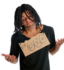 Dreadlock Wig Mens Adult Dreads Dread Locks Long Black Homeless Hobo Tramp Hair