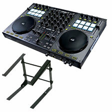 Gemini G4V 4-Channel Virtual DJ Controller With Odyssey LSTAND-S DJ Computer Sta