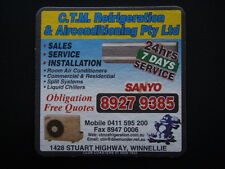 C.T.M. REFRIGERATION & AIRCONDITIONING 1428 STUART HY WINNELLIE 89279385 COASTER