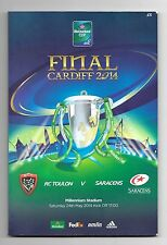 2014 - Toulon v Saracens, European Cup Final Rugby Union Programme.