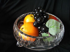 Cut Glass 3-footed Fruit Bowl with Rose design Ref 1158