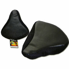 Cycling Bike Bicycle Soft Saddle Seat Cover Cushion Pad Comfortable Black ADB-34