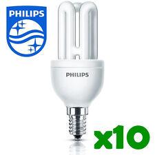 10 x Philips ahorro de energía Bombilla pequeñas Tapa A Rosca ses E14 8w/40w Moda # 2422