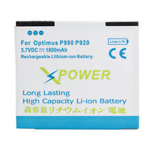 1800mAh 3.7V Replacement External Battery For LG Optimus 2X P990 Optimus 3D P920