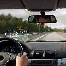 "A8 5.5"" Car HUD Head Up Display OBD II 2 Speed Warning System Fuel Consumption"