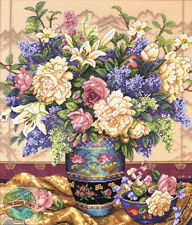 Cross Stitch Kit ~ Gold Collection Oriental Splendor Flower Vase #35163