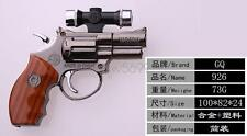 NEW Revolver Gun Style Windproof Jet Flame Cigarette LighterLED+Laser Piont