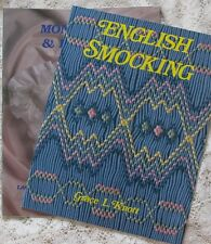 ~ NEW AND OOP GRACE KNOTT ENGLISH SMOCKING HEIRLOOM SEWING 2 BOOK LOT OOP ~