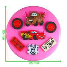 Lightning McQueen Mater Cars Silicone Mould by Fairie Blessings