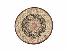 1:12 Scale 17cm Diameter Victorian Circular Rug Doll House Miniature Carpet 3488
