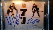 09-10 The Cup Dual Honorable Numbers Ray Bourque/ Victor Hedman 22/77 nice PATCH