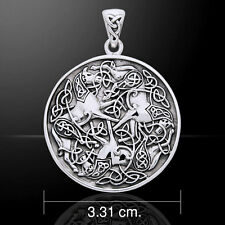 Viking Warrior Horse .925 Sterling Silver Pendant by Peter Stone