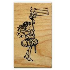 MUSIC FAIRY, mounted girl rubber stamp #10