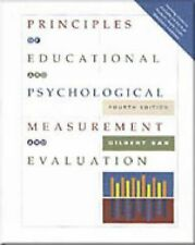 Principles of Educational and Psychological Measurement and Evaluation by Gilber