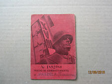 ORIGINAL WWII ITALIAN NATIONAL FASCIST PARTY PNF ID CARD