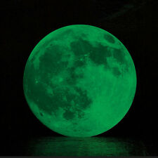 30cm Glow in the Dark Luminous Full Moon Moonlight Room Wall Stickers Decoration