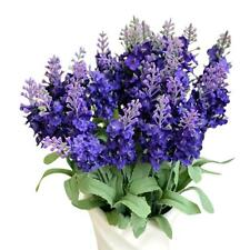 Artificial Fake Flower Bush Bouquet Home Wedding Decor Dark Blue