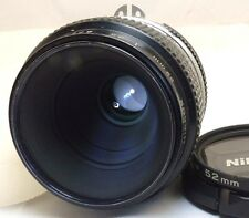 Nikon 55mm f3.5 AI manual focus 1:2 close up Lens genuine Micro Nikkor