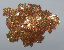 100 MAPLE LEAF METALLIC COOPER - Die-Cuts Embossed Sequin Leafs crafts cards