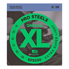 D'Addario EPS530 XL Pro Steels Round Wound Electric Guitar Strings 8-38