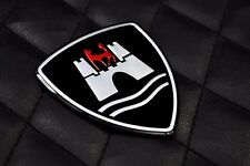 Aluminium Wolfsburg germany Badge Emblem Kit FIT MK7 6 GOLF R GTI JETTA POLO CC