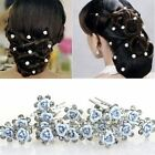 20pcs Wedding Prom Party Bridal Crystal Pearls Flower Diamante Hair Pins Clips