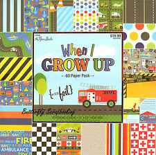 Kids When I Grow Up 12X12 Scrapbooking Paper Pad 60 Sheets Paper Studio NEW