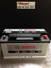 CAR BATTERY 017 12V MAINTENANCE FREE BOSCH SILVER S3013 3 YEAR GURANTEE