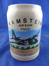 Ramstein Air Base Germany Beer Stein, Airplane