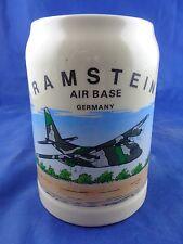 Ramstein Air Base Germany Beer Stein, Airplane