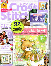 The World of Cross Stitching Magazine NEW w/ Bonus Hello Cookie Bear Kit