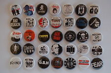 Punk Rock Buttons Pins Classic 80s 90s Music 1.25 Inch Size Lot of 35 (LB2)