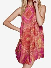 Free People Beaux Printed Mini Shift Dress In Red Size XS NWT