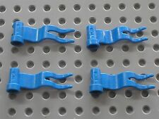 4 x Drapeau LEGO blue flag ref 4495 / Set 6081 6098 10176 6085 6091 6086 6046...