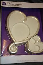 Wilton Pearl White Heart Wedding Unity Candle Holder Stand 032