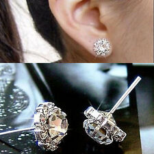 Women Fashion Jewelry Lady 1 Pair Elegant Crystal Rhinestone Ear Stud Earrings