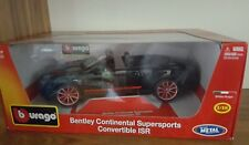 BENTLEY CONTINENTAL SUPERSPORTS CONV ISR - 1/18 SCALE MODEL CAR BY BURAGO BLACK
